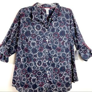 CATHERINES BLUE TOP NWT